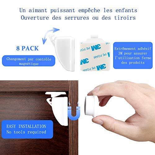 pour armoires placards tiroirs r/éfrig/érateurs Hemore 2/loquets de s/écurit/é pour b/éb/é//enfant