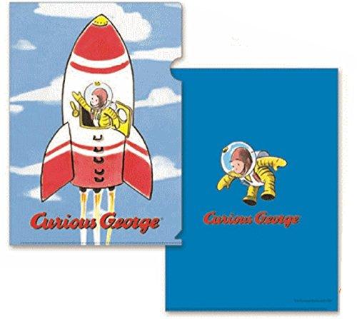 トーシンパック おさるのジョージ クリアファイル(ロケット) W220mm×H310mm (A4サイズ) CG-CF502