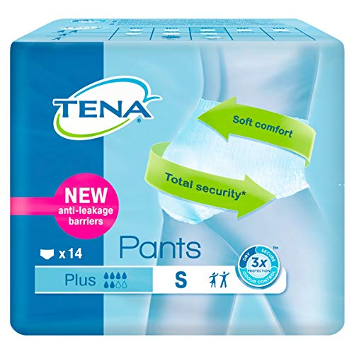 TENA PANTS PLUS PEQ/MED 14 UN