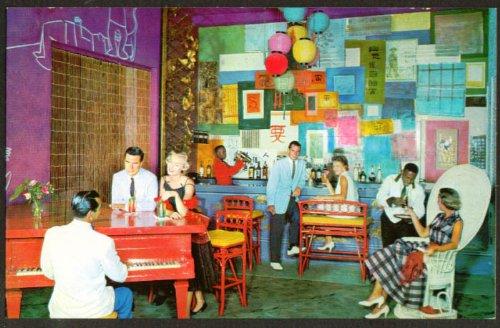 Hong Kong Bar British Colonial Hotel Nassau postcard