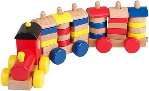 HXGL-jouets Petit Train Jouet magnétique assemblé Cadeaux MultiCouleures pour Enfants de Plus de 3 Ans (Couleur   MultiCouleure)
