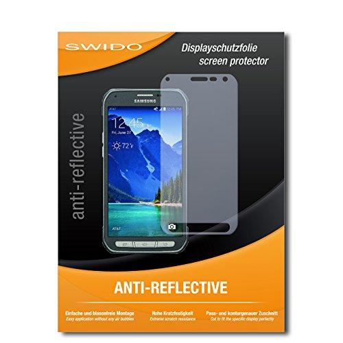 SWIDO Bildschirmschutz für Samsung Galaxy S6 Active [4 Stück] Anti-Reflex MATT Entspiegelnd, Hoher Festigkeitgrad, Schutz vor Kratzer/Glasfolie, Schutzfolie, Bildschirmschutzfolie, Panzerglas Folie
