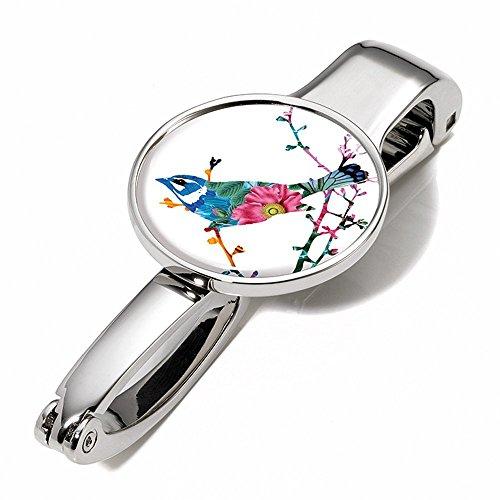 Handtaschenclip und -halter mit Dekor - #BGH03-A117 - Metall - glänzend - Motiv:
