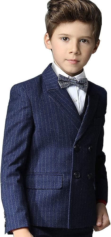 Little Boys Plaid Dark Gray Many popular brands Blue 5 P Pieces Vest Jacket Set Long-awaited Suit