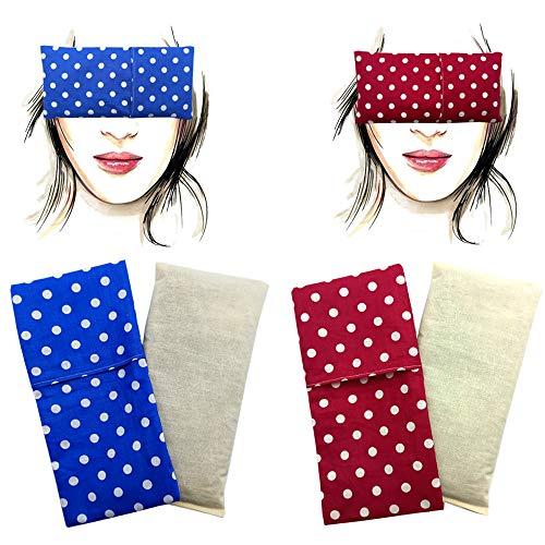 Almohada para los ojos 'Pack Duo - Alma' (2 rellenos y 2 fundas lavables) | Semillas de Lavanda y semillas de arroz | Yoga, Meditación, Relajación, descanso de ojos...