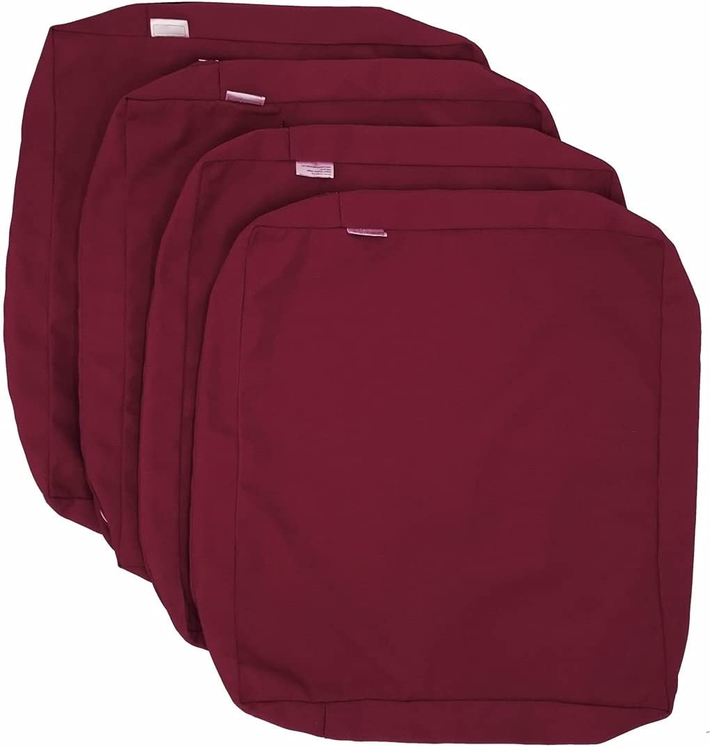 Burgundy Red Outdoor New products, world's highest quality popular! Water Repellent Cushion 5% OFF Chair Pi Patio Seat