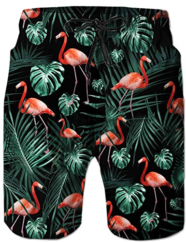 UNIFACO Mens Printed Swim Trunks Quick Dry Elastic Waistband Bathing Suits Board Shorts with Pockets S-XXL
