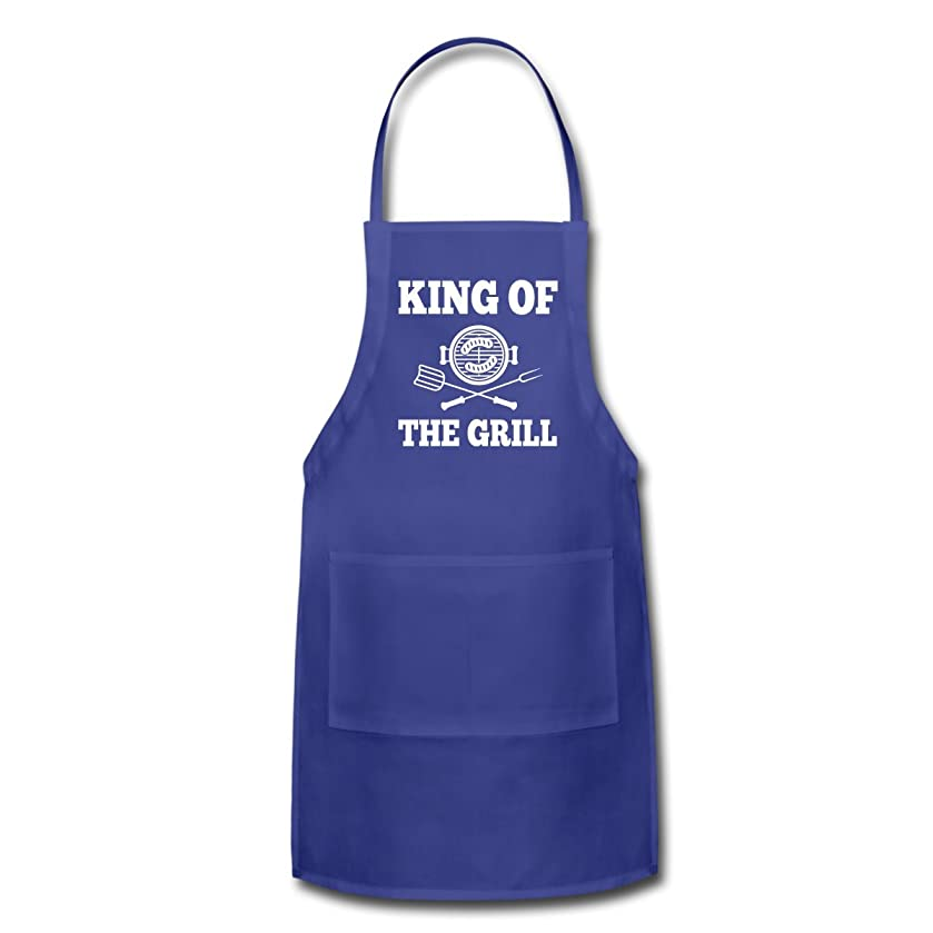 Spreadshirt BBQ King of The Grill Apron, Royal Blue