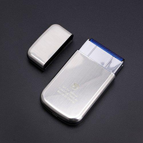 S-TROUBLE Mini Rasoir électrique Rechargeable à Lame Alternative KM-5088 pour Hommes