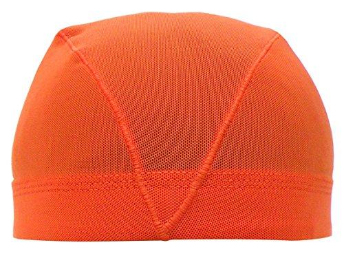 アスナロ(帽子・キャップ) 水泳帽 子供 メッシュ キッズ 無地 帽子L(54-59cm) オレンジ
