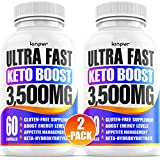 (2-Pack) Powerful Keto Pills - Diet Pills for Metabolism, Energy, and Brain Support That Work for Men & Women - Keto Bhb 120 Capsules - Effective Keto Supplement for Ketosis