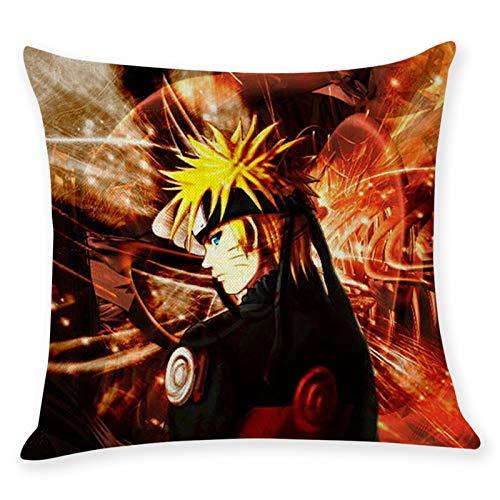 Gorgeous Store Funda De Almohada, Microfibra De Naruto 45x45 Cm - Conjunto De 2 Fundas De Almohadas Antiarrugas Suaves Transpirables, 2 Unidades (Color : D, Size : Plush)