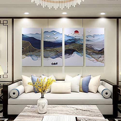 Yao rack Handgemachter dreidimensionaler geprägter Anstrich umweltfreundlicher Rahmen hängender Anstrich-Sofa-Hintergrund-dekorativer Malerei einfach wild,40 * 80cm