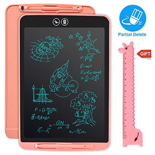 Tablette d'écriture LCD, 10' effacement partiel écran LCD eWriter, Ardoise Magique Portable pour l'écriture et Le Dessin sans Papier,Enfants et Adultes électronique Memo Board,Cadeau: règle de dessin