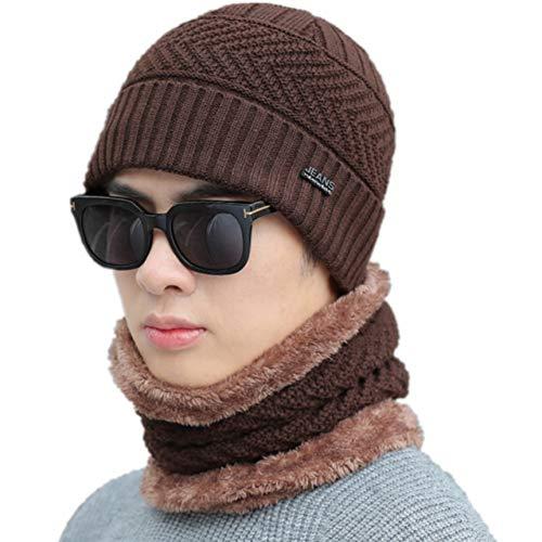 FHYY wintermuts beanie gebreide muts mannen gebreide muts mode winter hoed voor mannen warme dikke acryl beanie hoed