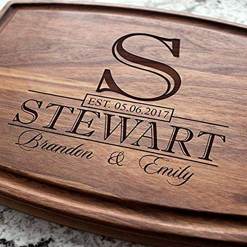 Classic Monogram Wedding Personalized Cutting Board Engraved Cutting Board Custom Cutting Board Wedding Gift Housewarming Gift Anniversary Gift Engagement W 015GB