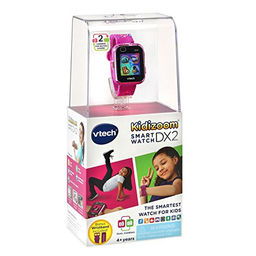 VTech KidiZoom Smartwatch DX2 Special Edition Floral Birds with Bonus Vivid Violet Wristband, Great Gift For Kids, Toddlers, Toy for Boys and Girls, Ages 4, 5, 6, 7, 8, 9 7