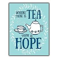 お茶あり希望ありティンサイン壁鉄絵レトロプラークヴィンテージ金属板装飾ポスターおかしいポスター吊り工芸品バーガレージカフェホーム