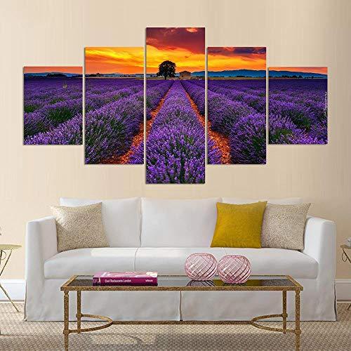 RQWWLH canvas 5 stuks muurkunst schilderij 200X100 cm / 78,8X39,4