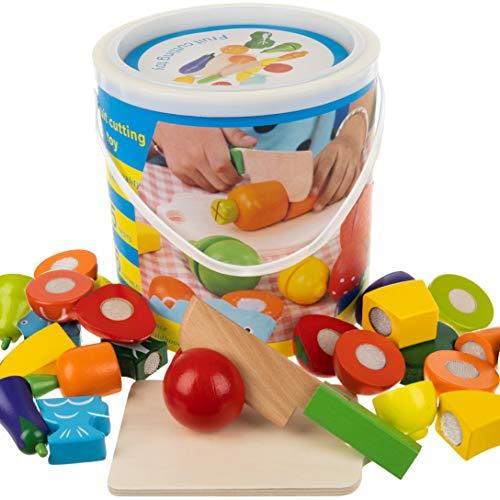 ISO TRADE Küchenspielzeug Schneiden Lebensmittel Obst Gemüse mit Klett-Verbindung 12535