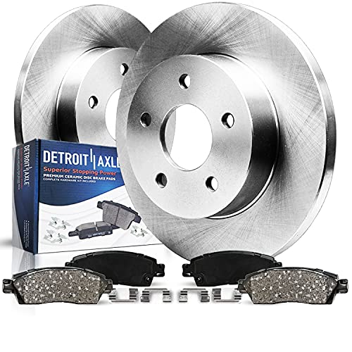 Detroit Axle - Rear Disc Rotors + Ceramic Pads Replacement for Ford C-Max Escape...
