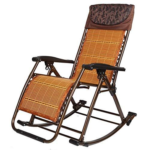 HXCD Klappbarer Schaukelstuhl mit Schwerelosigkeit und Kissen, tragbarer, übergroßer Patio-Lounge-Sessel für schwere Personen, Unterstützung 440 lbs, Stil 2