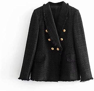 e0f9115a8d Good dress Élégant Blazer Décontracté d'automne Et d'hiver en Tweed Noir,