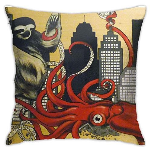 MZZhuBao Fundas de cojín cuadradas decorativas para sofá o sofá (45 x 45 cm)