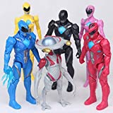 6pcs Rangers Action Figures Toy Super Heroes Set, 5 inch Superhero Kids Holiday Toys Gifts Decoration