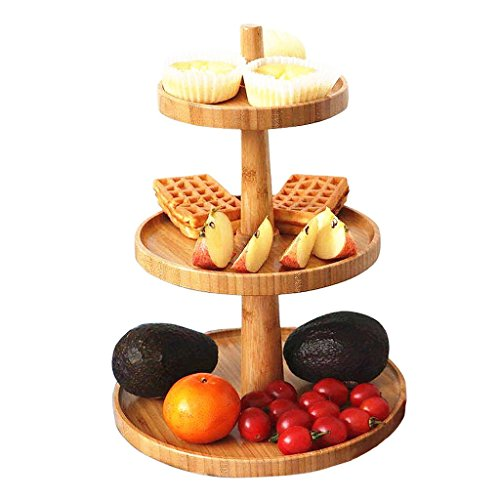wooden tiered cupcake stand - 3