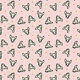 Disney Cute & Wild Bambi Dots Stoff Metallic Pink Meterware