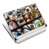 ICOLOR Laptop Skin Sticker Decal,12' 13' 13.3' 14' 15' 15.4' 15.6 inch Laptop Skin Sticker Cover Art Decal Protector Notebook PC (Dogs)