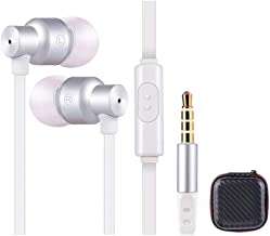 Earbuds with Case, Earbud Headphones with Microphone - Audifonos for Samsung Ear Buds with Mic Super Bass Earphones Compatible with Samsung Galaxy S9 S8 S7 S6 Note Edge and More Cell Phones