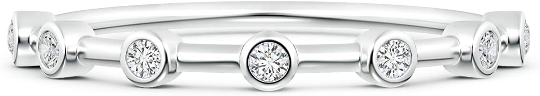 April Limited price Birthstone-Bezel Set Lab Created Wom 2021 Diamond Half Eternity