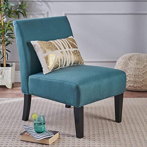 Kendal Dark Teal Fabric Accent Chair