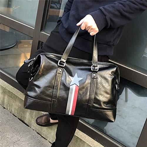 SJJOZZ Männer Portable One-Schulter im Freien Spielraum Sportkleidung Tasche Multi-Funktions-Golf Bag Large Capacity Design schwarzes 48 × 28 × 30 cm