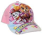 Paw Patrol - Gorra de béisbol con diseño de cachorros de Skye y Marshall Rosa. 52 cm