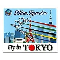 自衛隊グッズ ステッカー 航空自衛隊 ブルーインパルス TOKYO 展示飛行記念 耐水 耐候