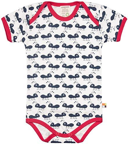 loud + proud Baby-Unisex Body Kurzarm aus Bio Baumwolle, GOTS Zertifiziert Spieler, Blau (Navy Ny), (Herstellergröße: 62/68)