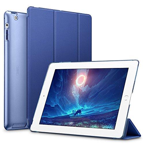 ESR Custodia per iPad 2/3/4 Smart Case Trifold in Pelle Sintetica e Traslucido Smerigliato della Cover Magnetica con Funzione Auto Wake & Sleep Cover per iPad 2/iPad 3/iPad 4 (Blu)