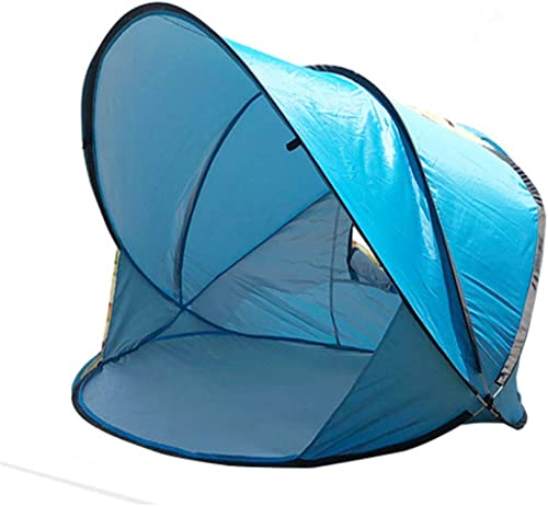 Diorerr Pop-Up Coquille De Plage UPF 50+ Prougeection UV 2 Personnes Auvent éTanche Ultra-LéGer portable Pliable Tente De Plage