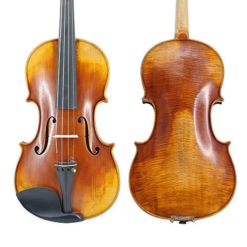 LOIKHGV Violins Master Handcraft Customized Antiqued Violin 4/4 Natural Flamed Maple Professional Violins Violino El violin,size 4 4
