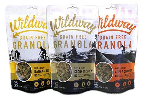 Wildway Vegan, Paleo, Gluten-free Granola  Variety 8oz