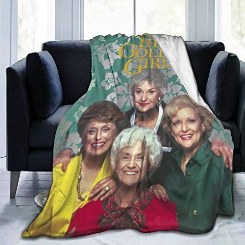 Bestrgi Soft Daily Bedroom Blanket for Couch Sofa Home Office Golden Girls Fashion All Season Warm Lightweight Fleece Blankets 60'x50' for Adult and Kids Gift