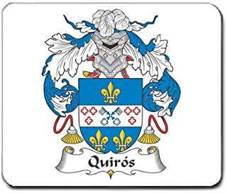 Quiros Family Crest Coat of Arms Mouse Pad