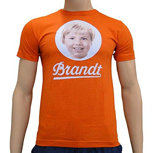 Brandt 70sCamiseta Original Retro biscote Logotipo, algodn Olle Naranja/Blanco UnisexXL