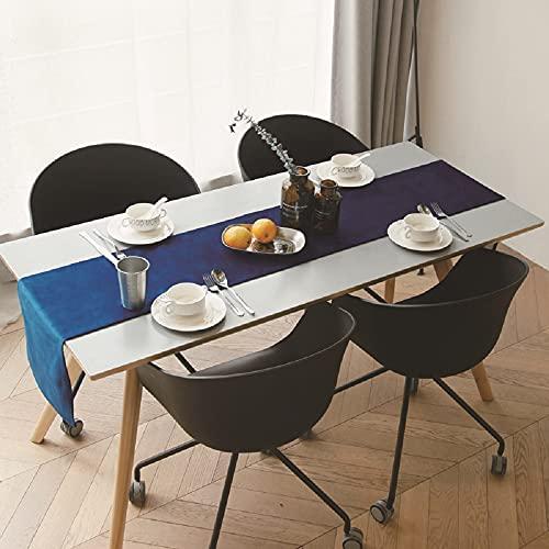 FYSM Chemin De Table en Velours De Couleur Unie Table Basse en Tissu De Comptoir De Télévision en Tissu De Table Simple 32ax22069 32x220cm / Bleu mer