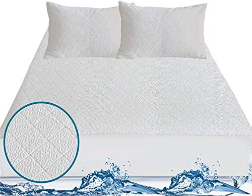 ABSTRACT Bamboo Mattress Protector - 100% Waterproof | Hypo-Allergenic & Dust-Mite Resistant | Exclusive Heat Insulation Technology | Premium Microfiber | Extra Soft | Fitted Bed Cover (Single)