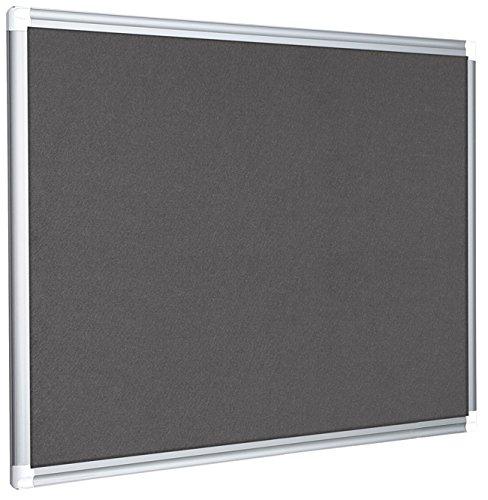 Bi-Office Filztafel New Generation, Pinnwand mit Aluminiumrahmen, 60 x 45 cm, Grau