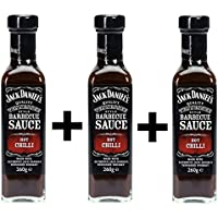 Jack Daniels Barbecue Sauce Hot Chilli 3x 260ml